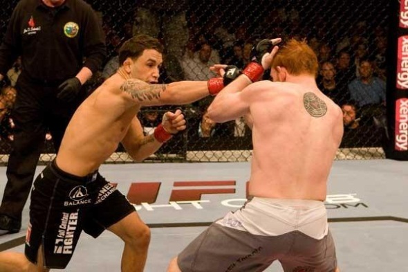 Edgar punching UFC 73