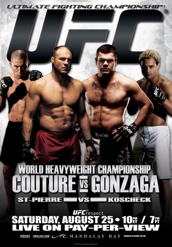 UFC 74 Couture vs Gonzaga UFC Poster pic