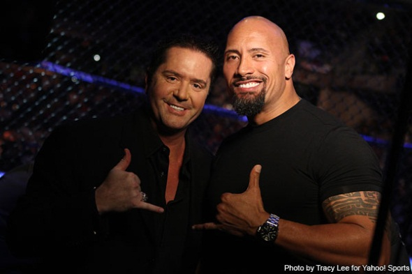 The Rock and Mike Goldberg UFC Wrestling