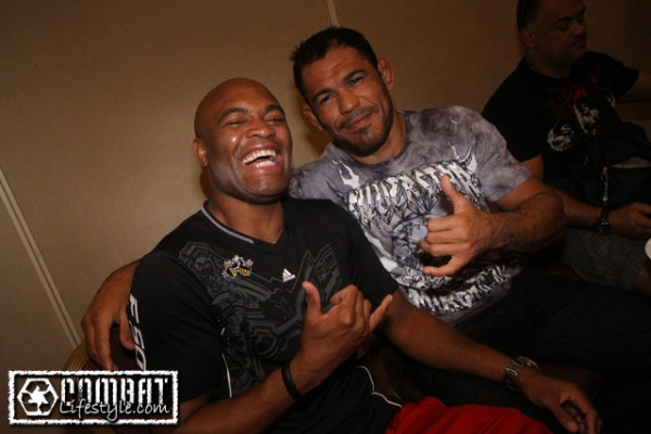 Anderson Silva and Nogueira