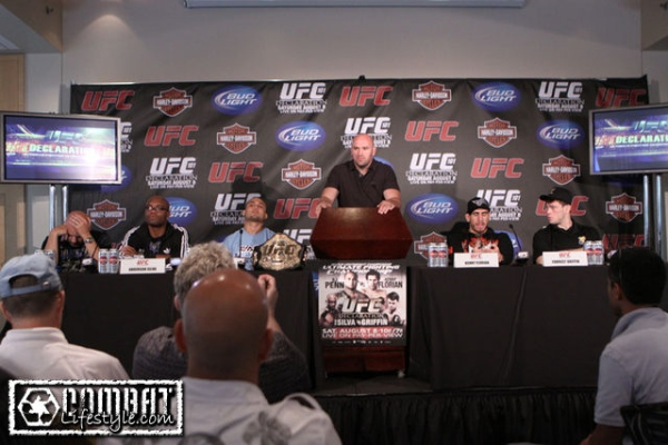 Press Conference pic for UFC 101