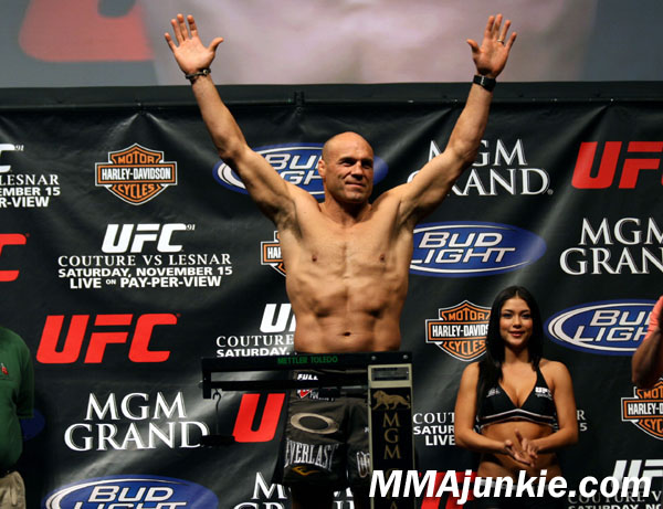 Randy Couture-weigh in