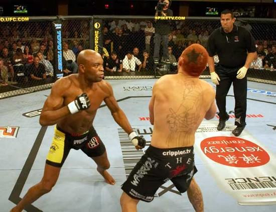 Silva punches Leben