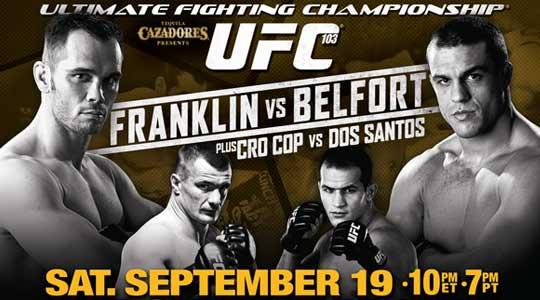 UFC 103 Poster