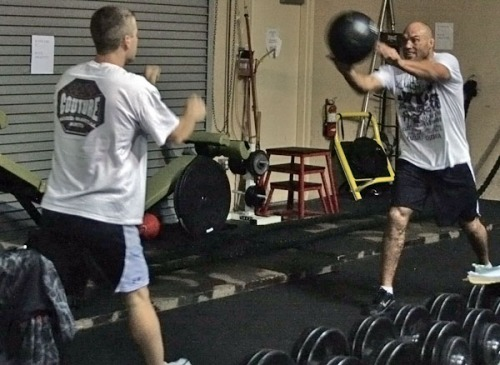 Couture UFC 105 training 1