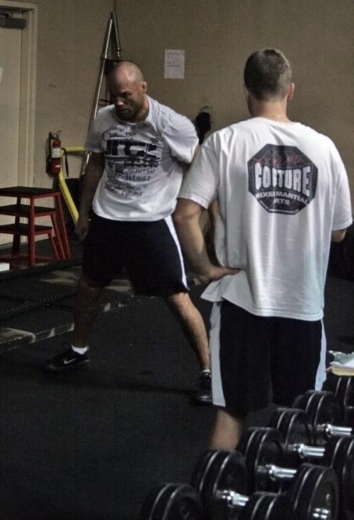 Couture UFC 105 training 3