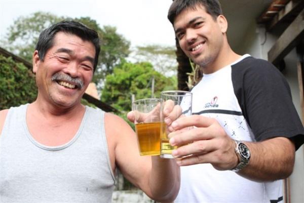 Machida and Father drink urine 2