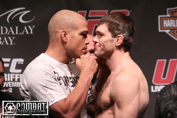Ortiz vs Griffin UFC 106 weigh in 2