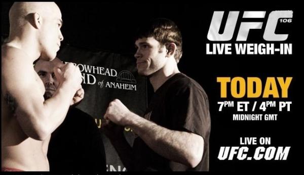 UFC 106 weigh ins