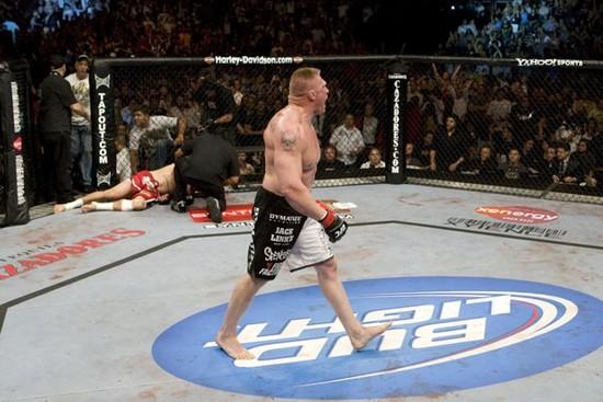 Brock Lesnar beats Mir for title