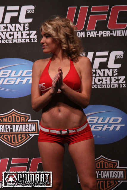 Natasha Wicks at UFC 107