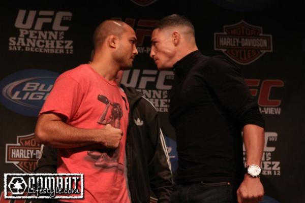 UFC 107 penn vs sanchez staredown