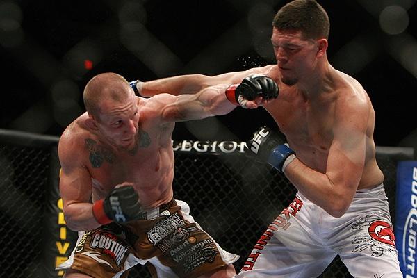 Maynard punches Diaz