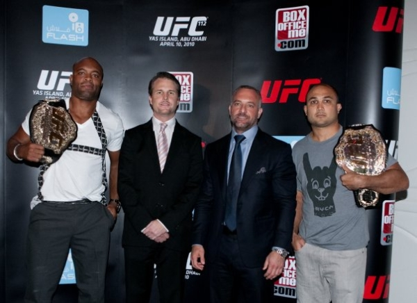 UFC 112 press conference pic 3