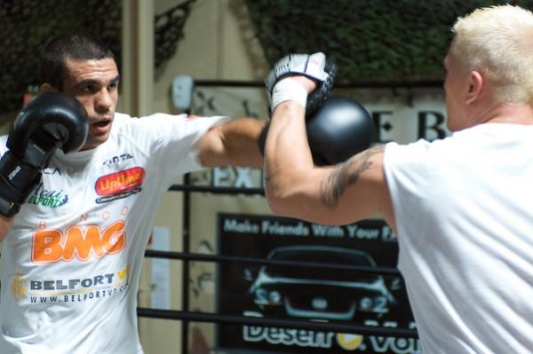 Vitor Belfort training