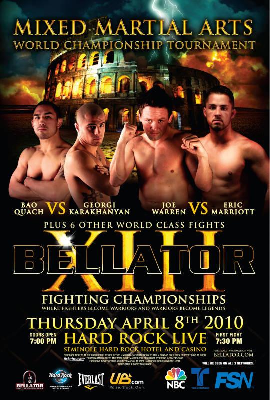 Bellator 13 poster