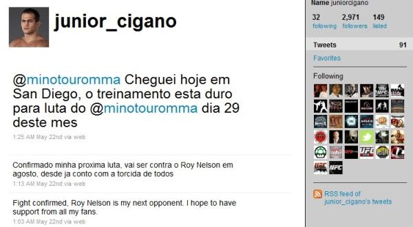 Junior Dos Santos Twitter