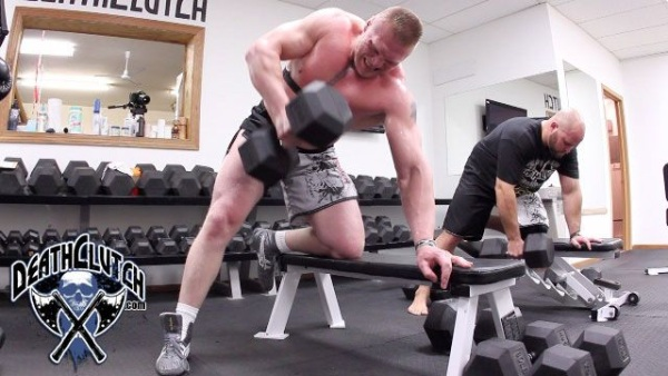Lesnar UFC 116 Training for Carwin