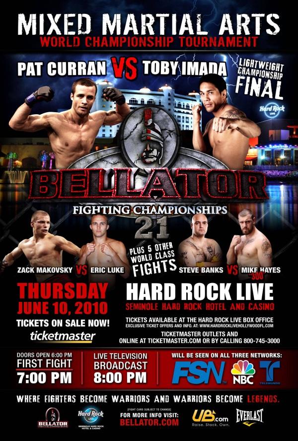 Bellator 21 poster