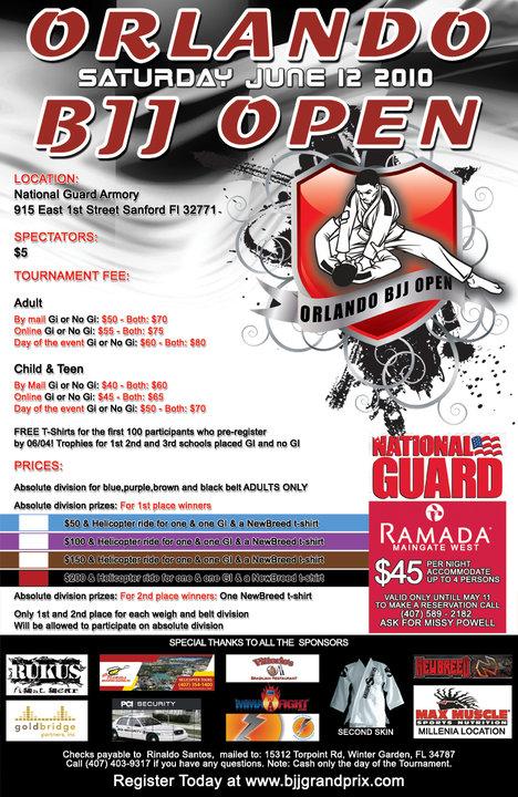 Rinaldo Santos BJJ Grand Prix June 15 Poster