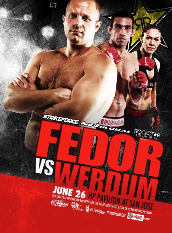 Strikeforce Fedor vs Werdum Poster