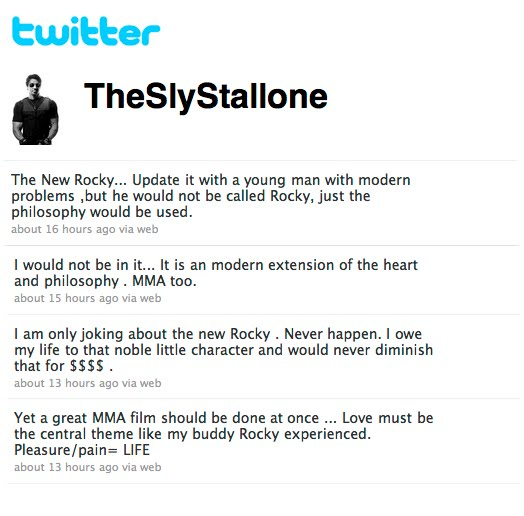 Stallone MMA Movie Twitter pic