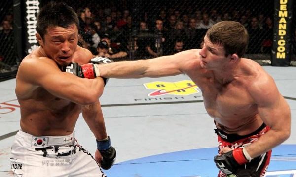 Bisping punches Akiyama