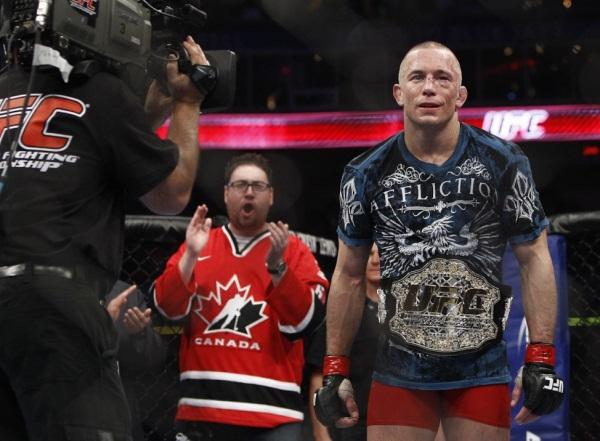 GSP wins UFC 129