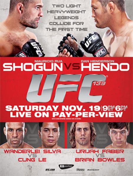 UFC 139 Poster