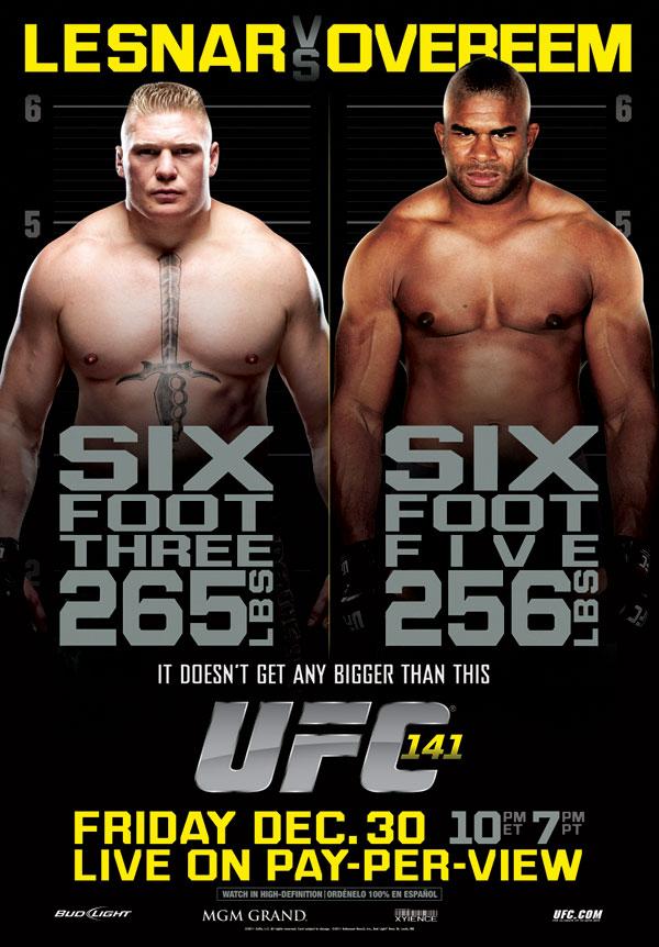 UFC 141 Poster