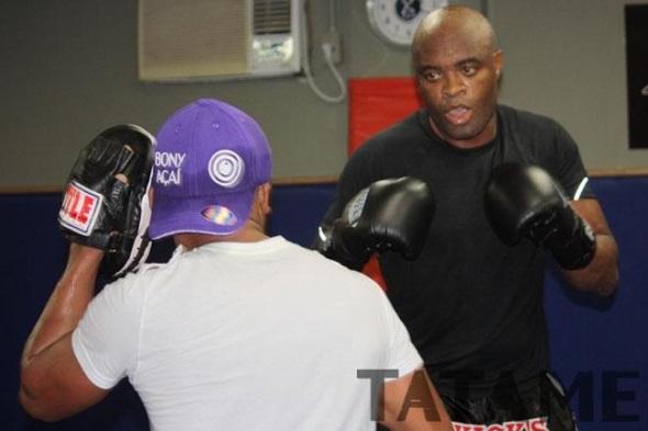 Anderson Silva training 2
