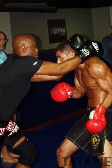 Anderson Silva training 4