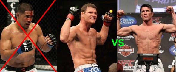 Bisping vs Sonnen and Munoz Out