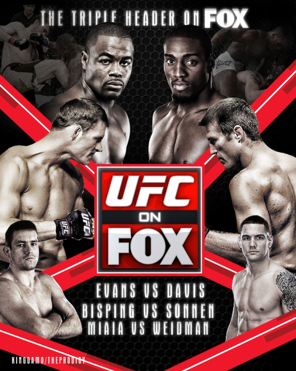NEW UFC on FOX 2 Poster
