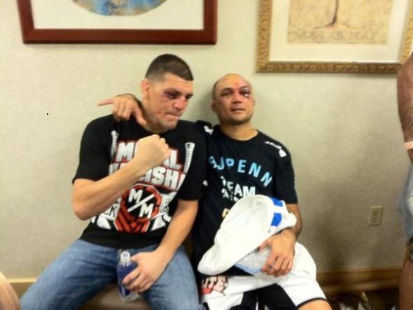 Nick Diaz and BJ Penn Post UFC 137