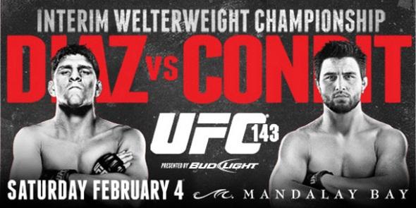 UFC 143 Poster