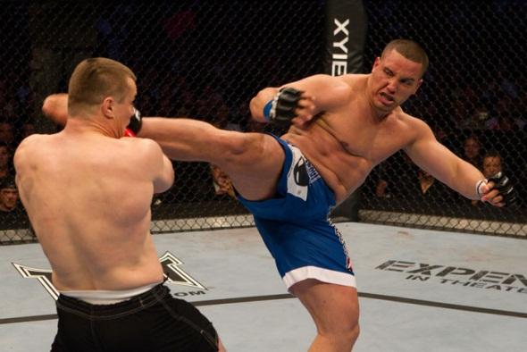 Pat Barry kicking UFC Photo