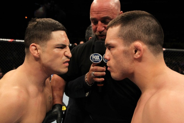 UFC Photo Ellenberger vs Sanchez staredown