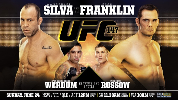 UFC 147 Poster Silva Franklin Werdum Russow