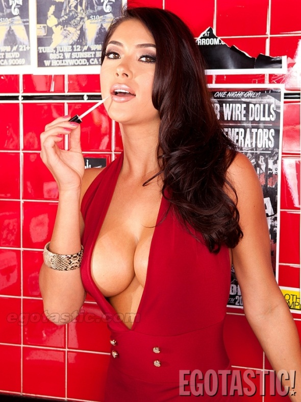 UFC Arianny Celeste Viper Room Red Dress 1