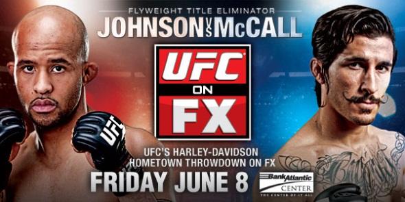 UFC on FX 3 Johnson vs McCall poster
