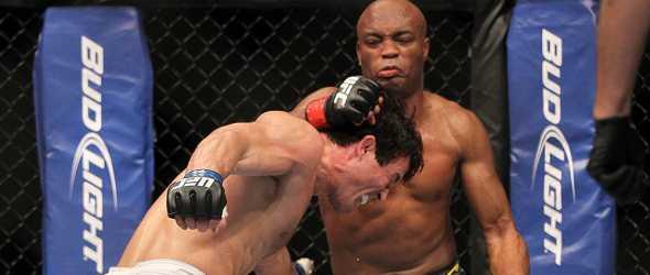 UFC 148 Silva punches Sonnen- gallery