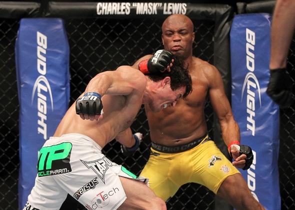 UFC 148 Silva punches Sonnen