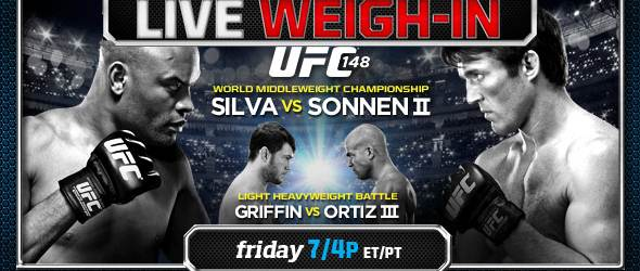 UFC 148 weigh in pic- gallery