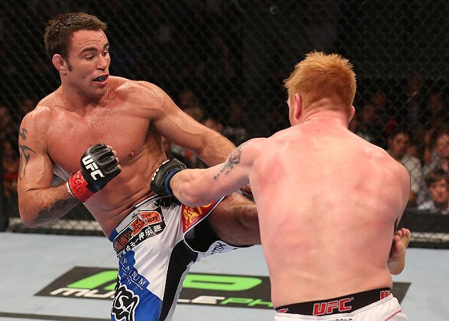 Jake Shields kicks Ed herman ufc pic