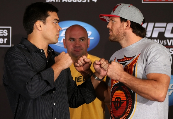 Machida vs Bader weigh in staredown ufc pic
