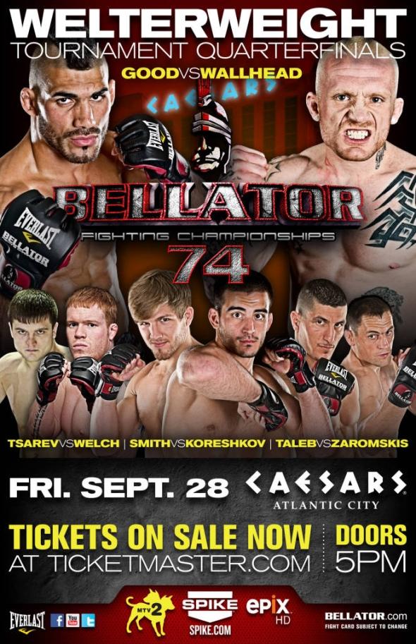 Bellator 74 Poster pic