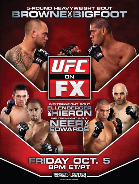 UFC on FX 5 Browne vs Bigfoot poster pic