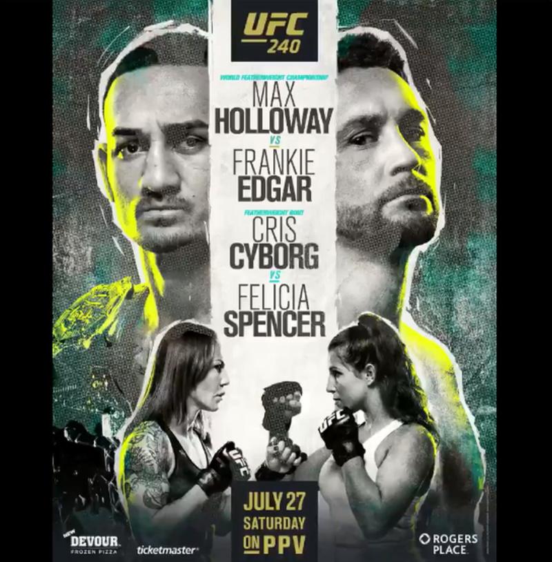 UFC 240 poster – Holloway vs Edgar MMA